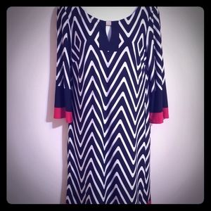 Black, red and white dress Sz 8 NWT